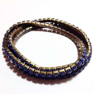 復古藍寶石古銅手鏈組 手環