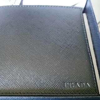 Brand New Men's Prada Black Nero Saffiano Wallet