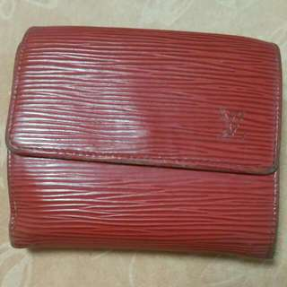 Authentic Louis Vuitton Red Epi Elise Wallet 🎁