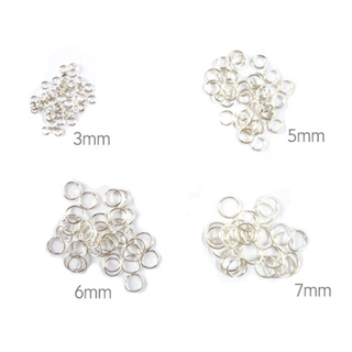 Silver-plated Jump Rings 3mm/ 5mm/ 6mm/ 7mm - Whitetone DIY Jewellery Crafting Findings