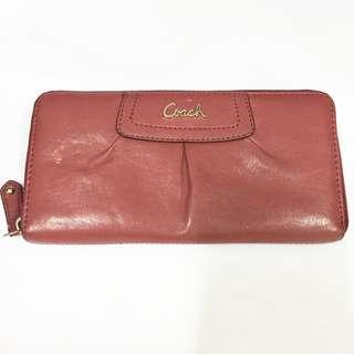 COACH 女性長夾,玫瑰紅色,正版