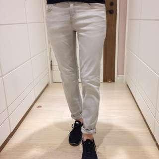 (包郵) Zara 灰色窄管牛仔褲