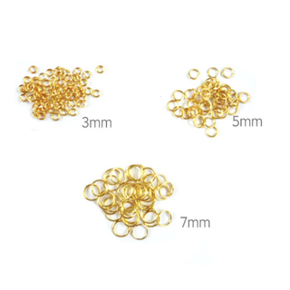 Goldtone Jump Rings 3mm/ 5mm/ 7mm - DIY Jewellery Crafting Findings Gold-plated