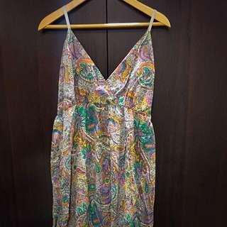 香港購入!變形蟲深v肩帶可調整長洋裝