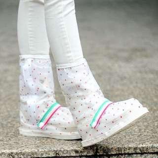 防雨鞋套【Allen小舖】小圓點點都會時尚長筒防水/防雨鞋套 H353