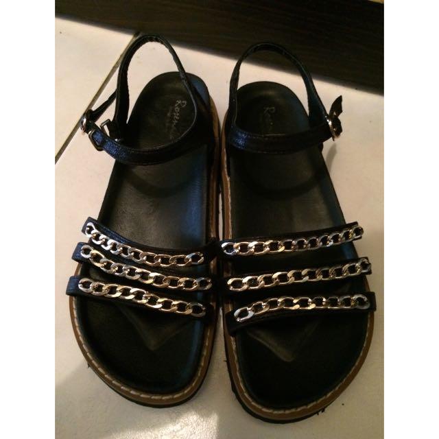 👏🏼(降價)歐美鏈條扣式涼鞋
