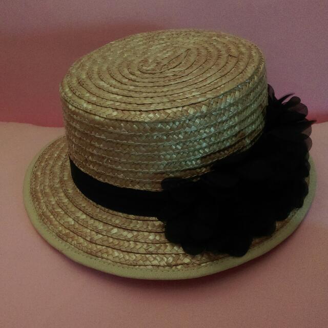 蕾絲花帽/造型竹編帽
