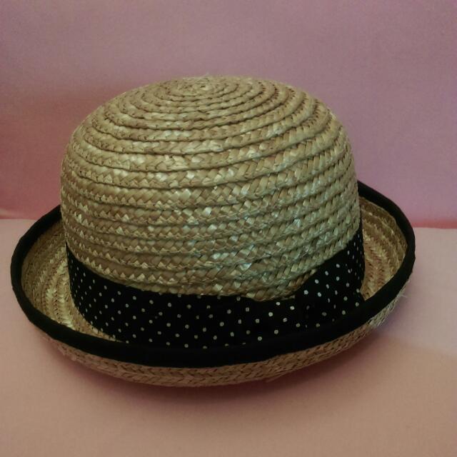 點點造型竹編帽