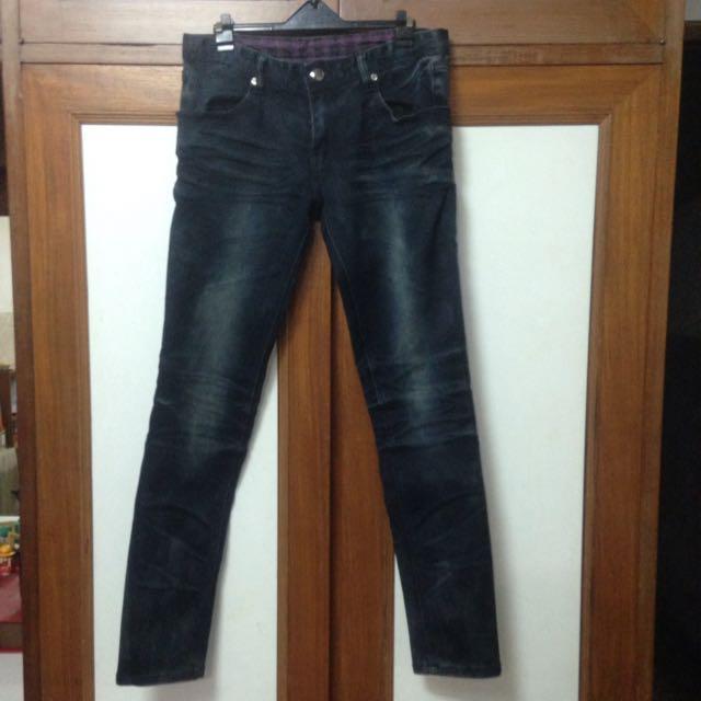 深藍 牛仔褲