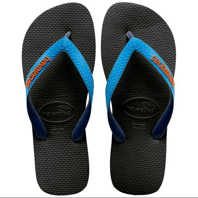 巴西拖鞋 havaianas 哈瓦仕 黑雙藍色  39/40 降價囉,,,原920現正出清888