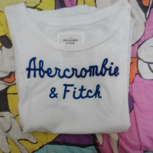 [保留]Abercrombie&Fitch AF white tee👕