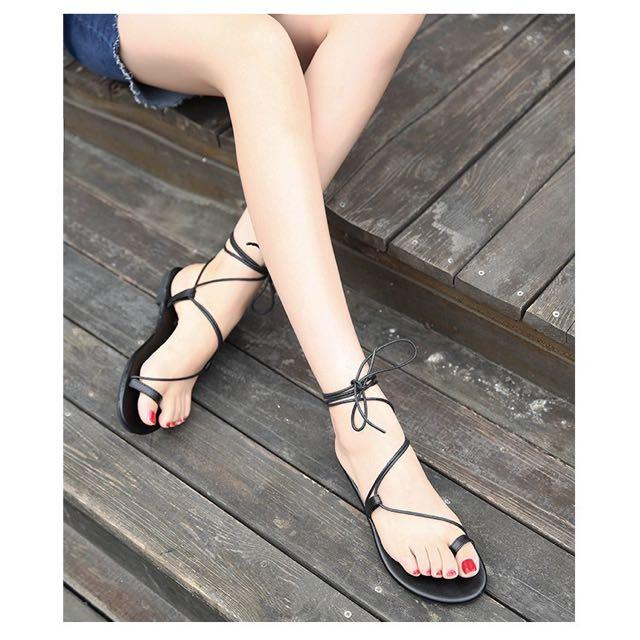 Romanian Sandals Inspired Strap Chloe Tie vNwym8n0O