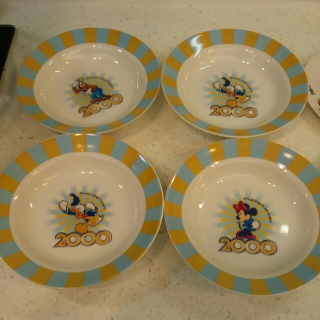 Disney紀念餐盤(4深盤+3平盤)