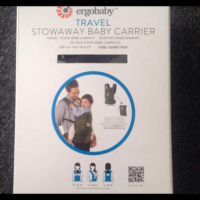 Ergobaby -Travel Stowaway Baby Carrier