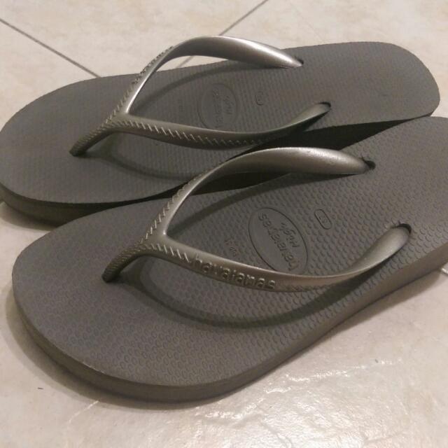哈瓦斯havaianas拖鞋6公分高    37號