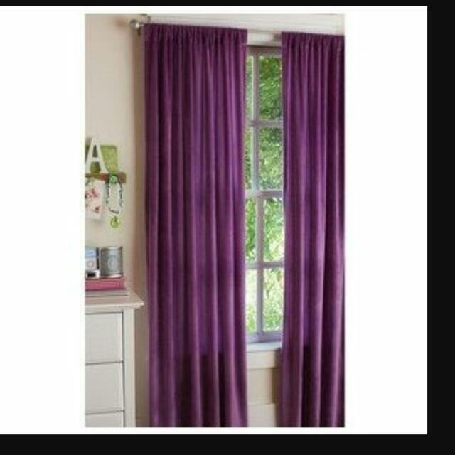IKEA Werna Purple Curtain Furniture On Carousell