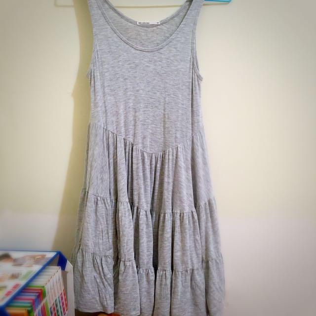 Lativ 灰色背心洋裝