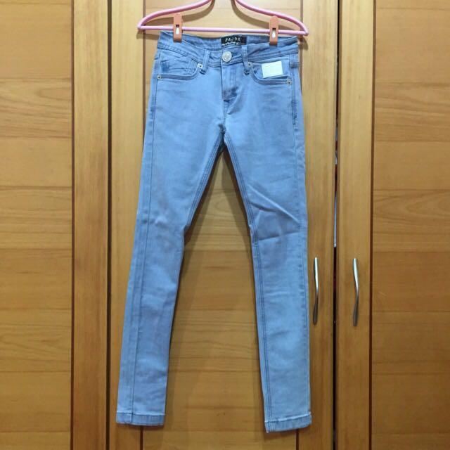 MJR 激瘦款刷色牛仔長褲