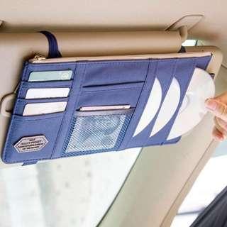 車內收納【Allen小舖】韓版汽車遮陽板收納包