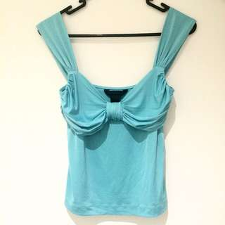 Eclipse Satin Turquoise Top