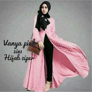 3in1 Vanya Pink Polka