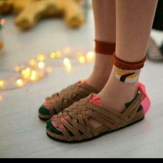 徵 編織涼鞋