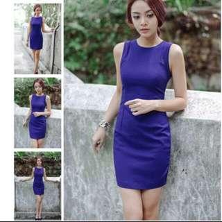 Fashmob Electric Blue Dress