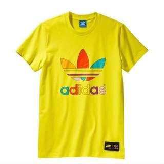 (正品)Adidas Supercolor T恤 黃