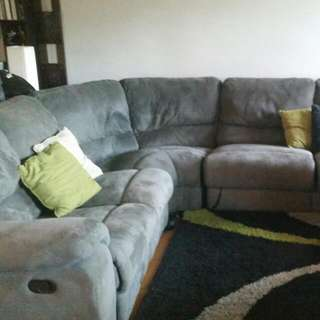 Couch 7 Seater Fold Out Seats Fold Out Bed Grey