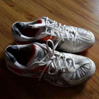 Original Asics Sports Shoes -  Orange And White