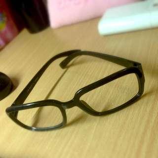 黑框無鏡片眼鏡 $50