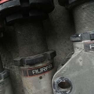 341 阿爾發高低軟硬可調避震 後面兩支漏油需灌油