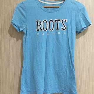 正貨 專櫃貨 別再懷疑了!Roots 藍色t 八成新 S號