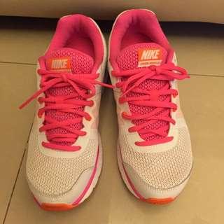 正品 Nike 白配桃紅配橘 運動鞋 慢跑鞋