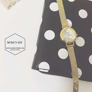 簡約美 復古金色小尺寸手錶