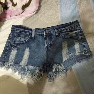 全新刷破短褲 L