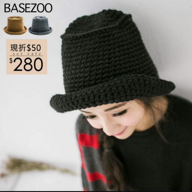 粗針織秋冬漁夫帽