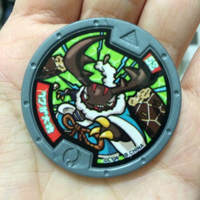 妖怪手錶,妖怪徽章,台版,正版,鍬形蟲大將
