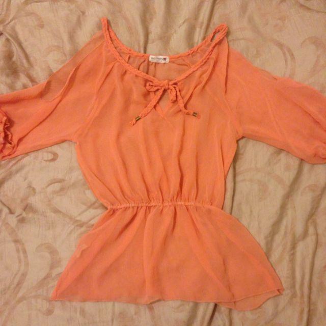 波西米亞橘色上衣