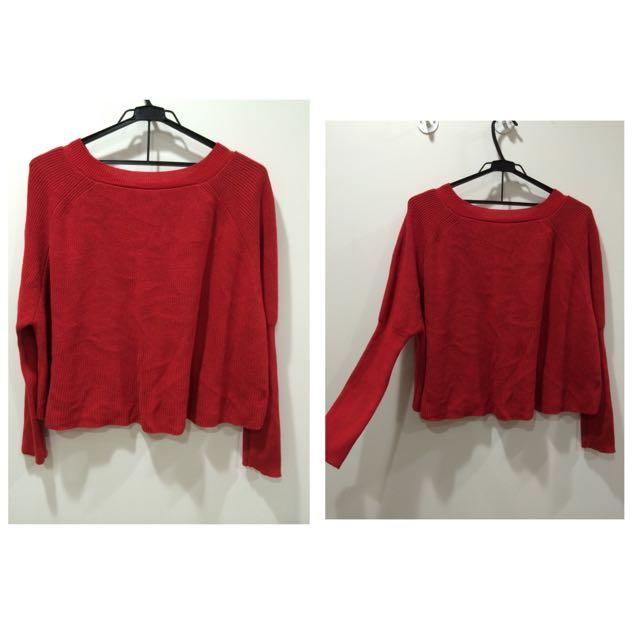 紅色 毛衣