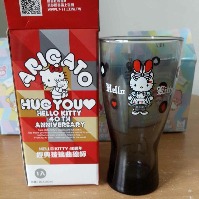 小七 Hello Kitty 40週年 銀灰變裝兔杯