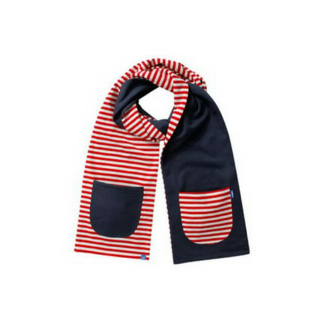 幾何雙面口袋圍巾-CACO