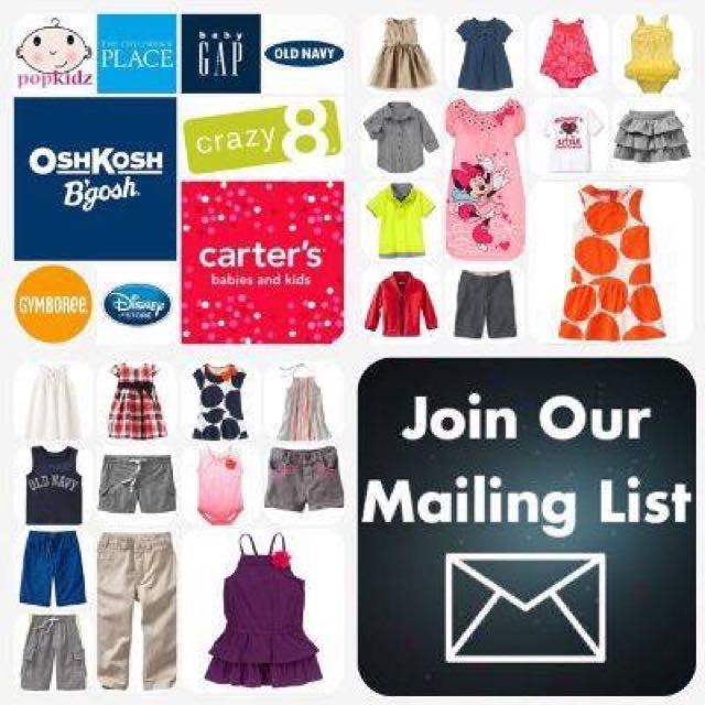 Cheap Branded Kidswear | Gymboree, Carter's, Oshkosh, Old Navy, Gap, The Children's Place, Crazy 8, Disney