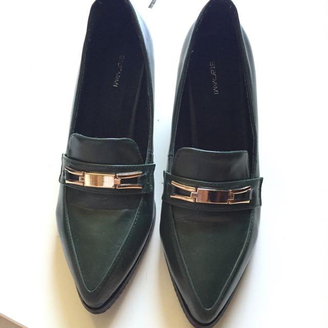 STARMIMI金屬配飾低跟樂福鞋40號