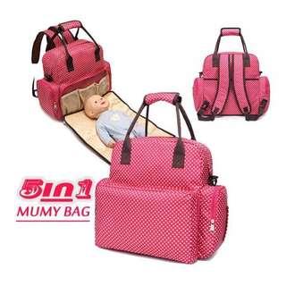 媽咪包【Allen小舖】超大容量5用多功能媽咪包/母嬰背包/尿布墊功能包