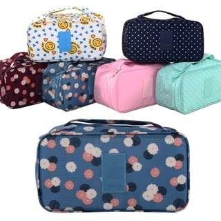 內衣包【Allen小舖】俏麗青春加大款多功能內衣包/內著衣物收納包