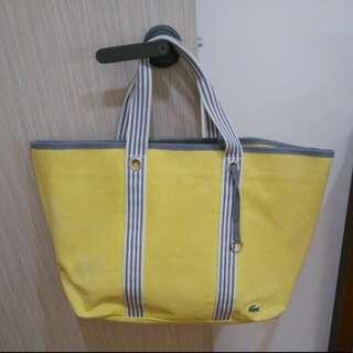 鵝黃色 La Coast大包包 超實用超耐裝 8成新