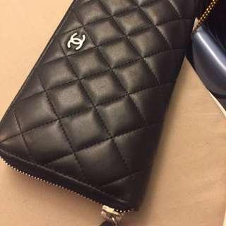 絕對正品Chanel ㄇ字拉鍊長夾 裸夾出售!