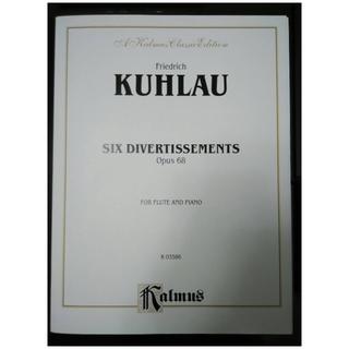 庫勞 6首嬉遊曲 全新 Kuhlau: 6 Divertissements Op.68 - for Flute & Piano