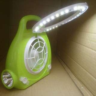 雙照明LED行動電扇